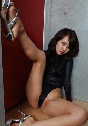 image Hot asian slut in fishnet stockings and lingerie anal sex