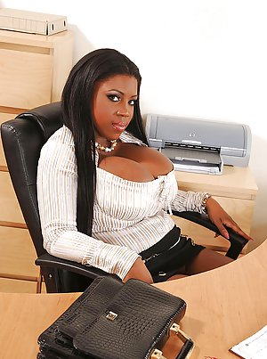 Office with sexy big black booty's