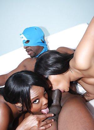 Ebony Group Sex 23
