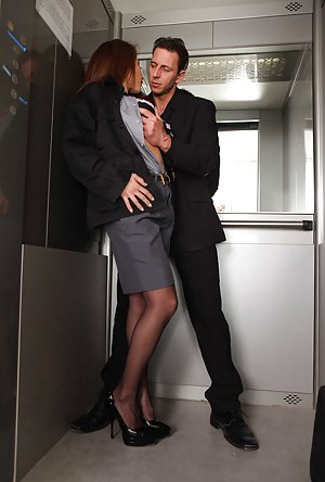 women masterbating in the office