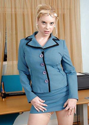 Secretary Boobs Teen 74