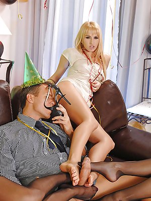 Latex dildo pantie bondage