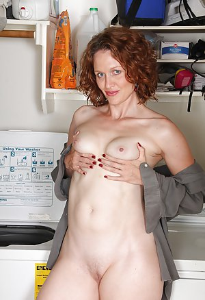 Nude girl doing laundry join told