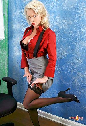 Big boob secretary with glasses fucks boss 2